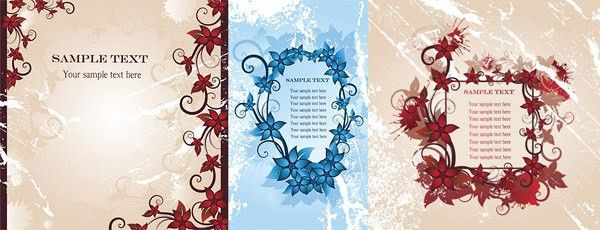 Flower border designs free vector download (14,404 Free vector ...