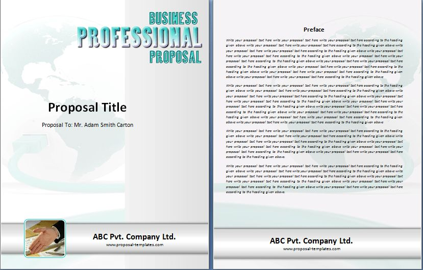 Tender Proposal Template Free | Proposal Templates
