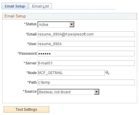 Setting Up Resume Email Accounts