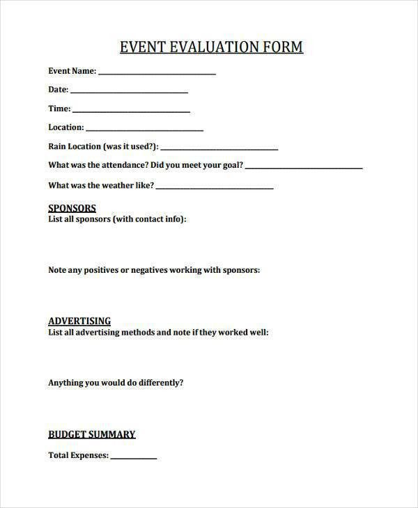 Event Feedback Form. Workshop, Event & Seminar Feedback Form ...