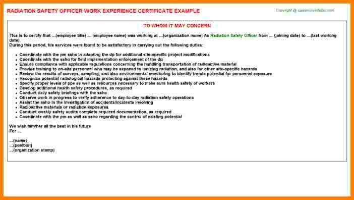 11+ safety experience certificate format | sample of invoice