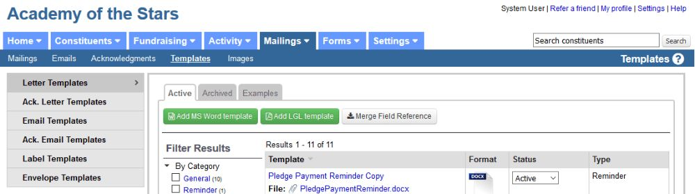 Sending pledge reminders or invoices - Little Green Light ...