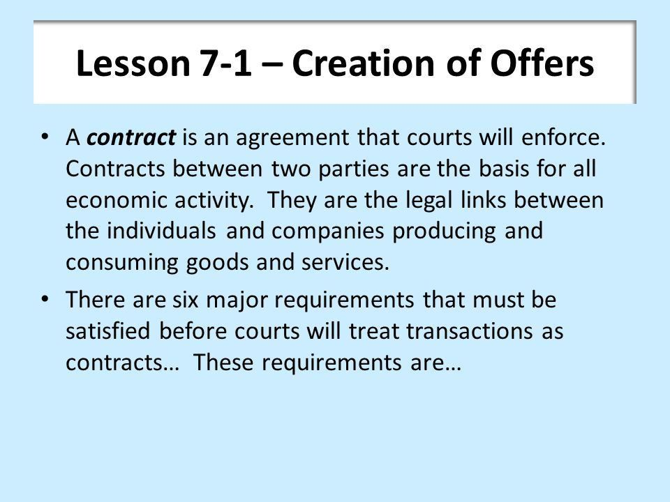 Chapter 7 – Offer and Acceptance - ppt video online download