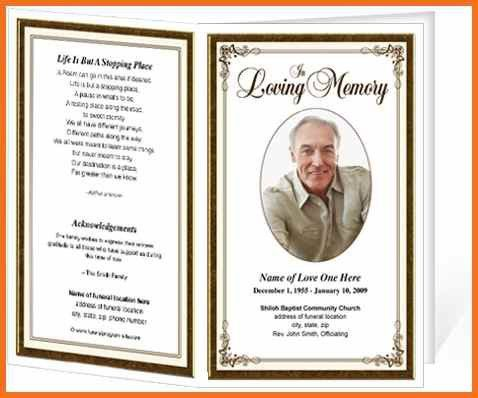 Funeral Program Format Template. Stunning Funeral Program Format ...