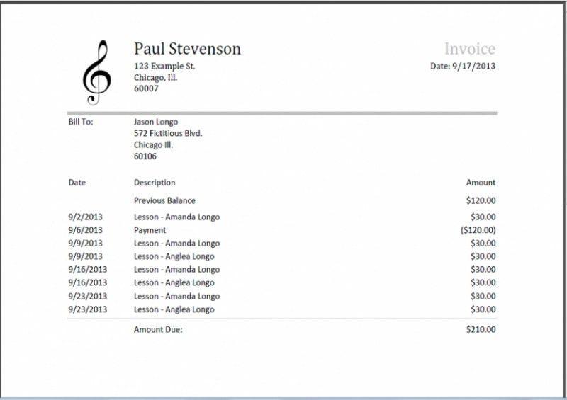 Download Musician Invoice Template Uk | rabitah.net