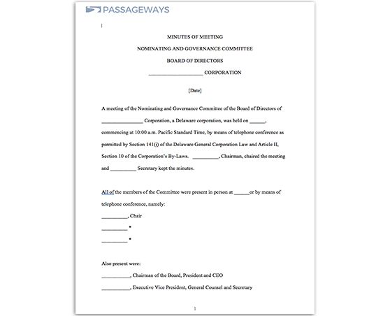 Free Tools - Meeting Minutes Template