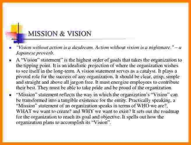 9+ personal vision and mission statement examples | Case Statement ...