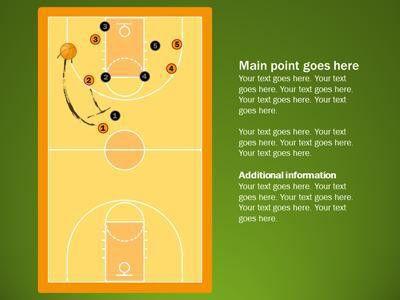 Basketball Playbook - A PowerPoint Template from PresenterMedia.com
