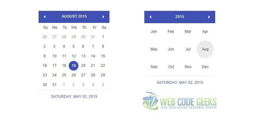 HTML5 Calendar Example | Web Code Geeks - 2017