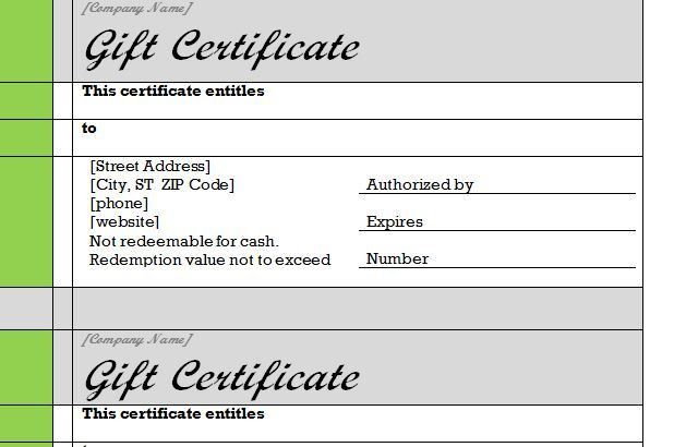 gift certificate word template free | Mytemplate.co