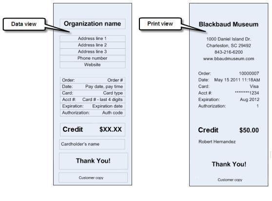 Refund Credit Card Receipt Report