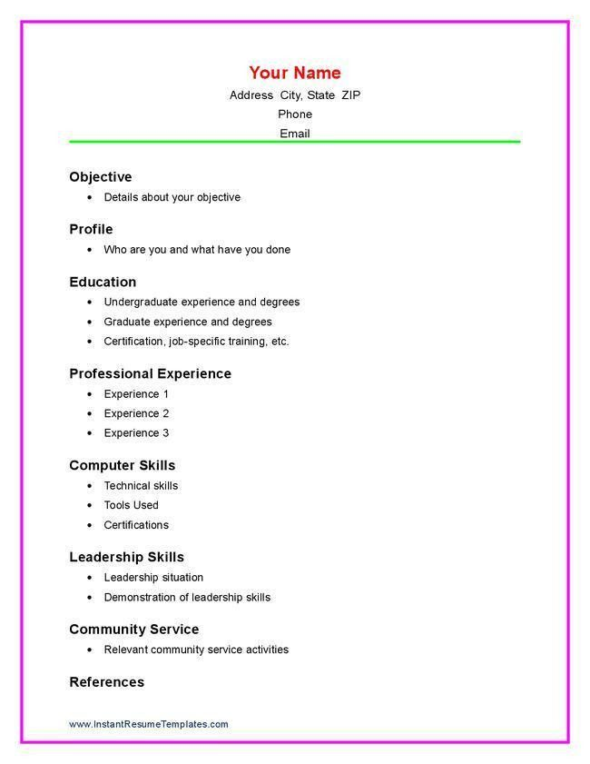 Download How To Write A Job Resume For A Highschool Student ...