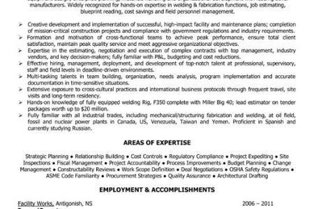 Sample Resume For Drilling Company - Reentrycorps