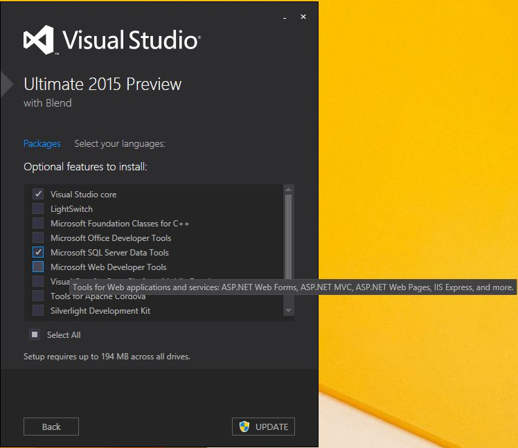 Why I can't see New project Web Template for Visual Studio 2015 ...