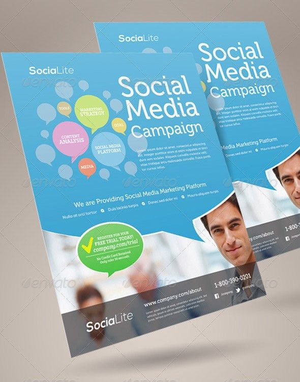 14 Great Social Media Flyer Templates (PSD & InDesign) – Design ...