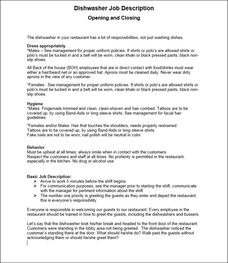 Restaurant Forms - Workplace Wizards Restaurant Consulting