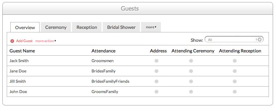 The Only Wedding Guest List Template You'Ll Need! | Perfect ...