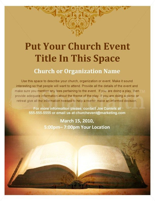Scripture Flyer Template | Flyer Templates
