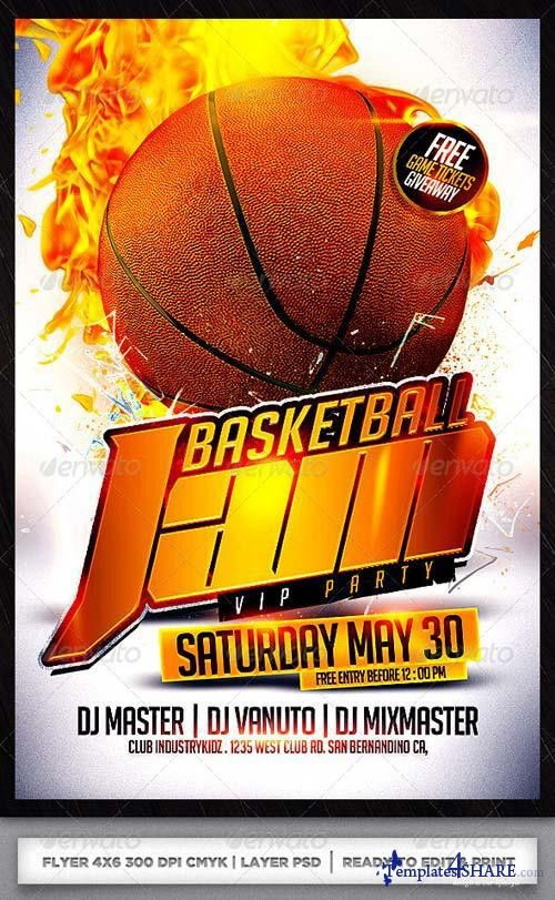 GraphicRiver Basketball Flyer Template » Templates4share.com ...