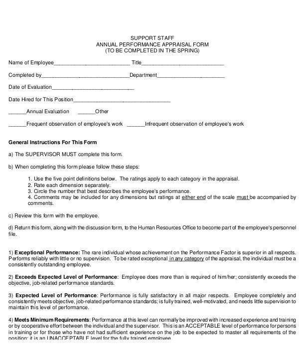 29+ Appraisal Form in PDF