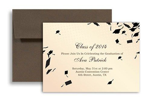 2017 Cream Beige Printable Graduation Invitation Example 7x5 in ...