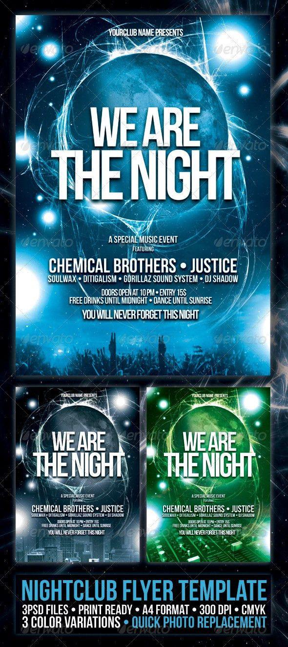 Nightclub Flyer Poster Template | Night Club Fliers