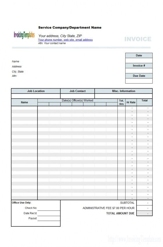 Invoice Template Billable Hours   Design Invoice Template