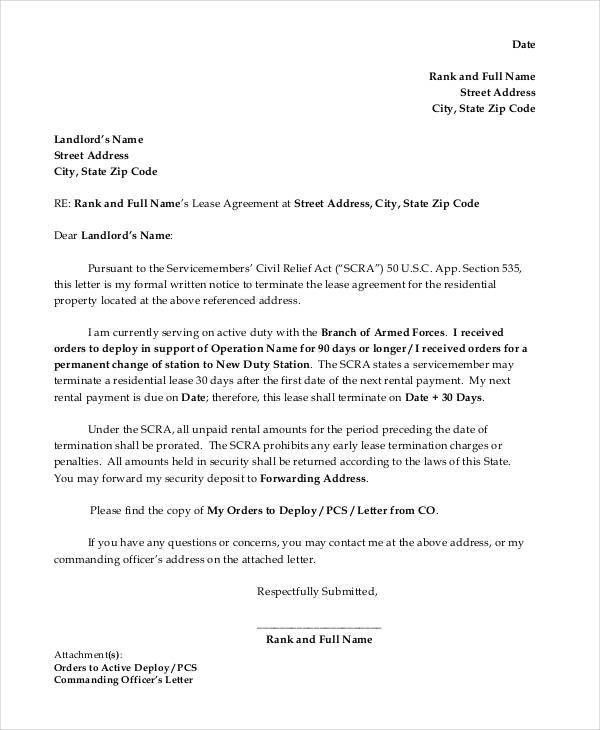 Letter of Termination Template - 8+ Free Word, PDF Document ...