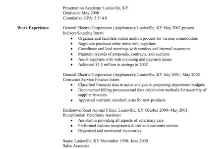 Veterinary Assistant Resume - Reentrycorps