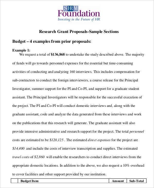 Grant Proposal Template - 10+ Free Word, PDF Documents Download ...