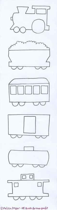 Train pattern. Use the printable outline for crafts, creating ...