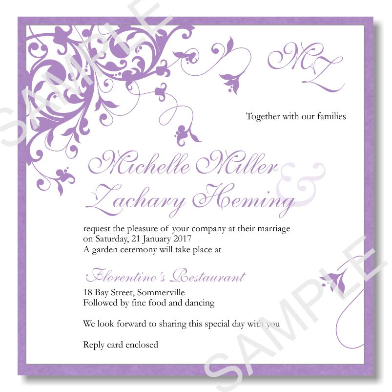 Elegant Wedding Invitations Templates | Sunshinebizsolutions.com