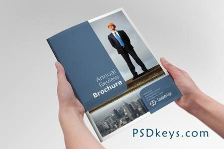 Annual Report Reviev Brochure 24956 » Free Download Photoshop ...