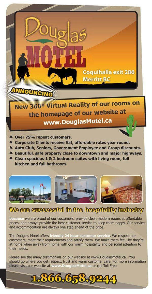 Email flyer for Douglas Motel - Standard Marketing