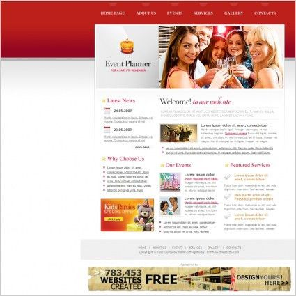 Event Planner Template Free website templates in css, html, js ...