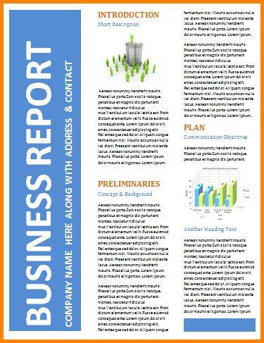 8+ business report template   memo templates