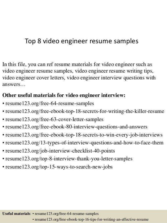 resume editing video resume sample. video production resume best ...