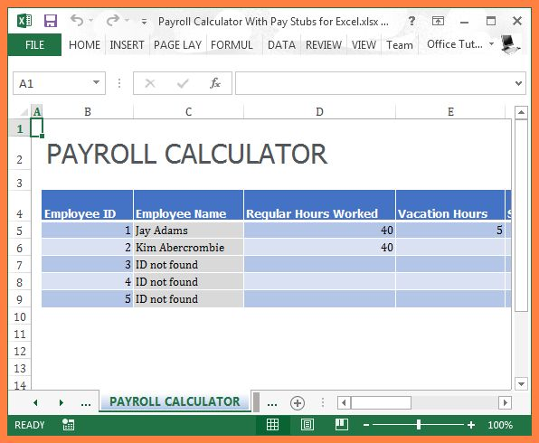 8+ payroll excel template | Invoice Example 2017