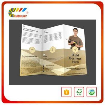 Professional Flyer Printer Color Accordion Commercial Leaflet ...