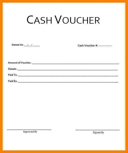 7+ cash voucher template | resume pictures