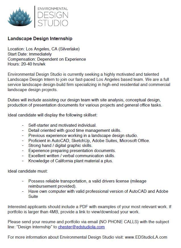 Alumni Connection » landscape architecture job