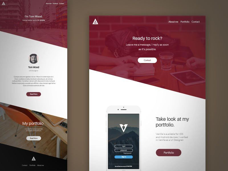 HMK Website Template Sketch freebie - Download free resource for ...
