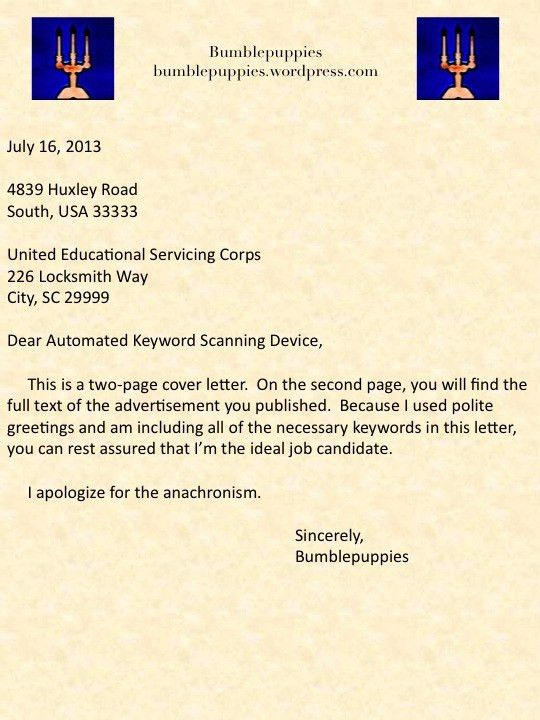 Cover Letter Greeting. February 5, 2013Attn: Chief & Official ...