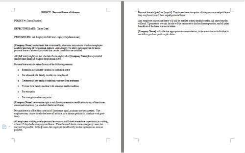 Leave of Absence Policy Template