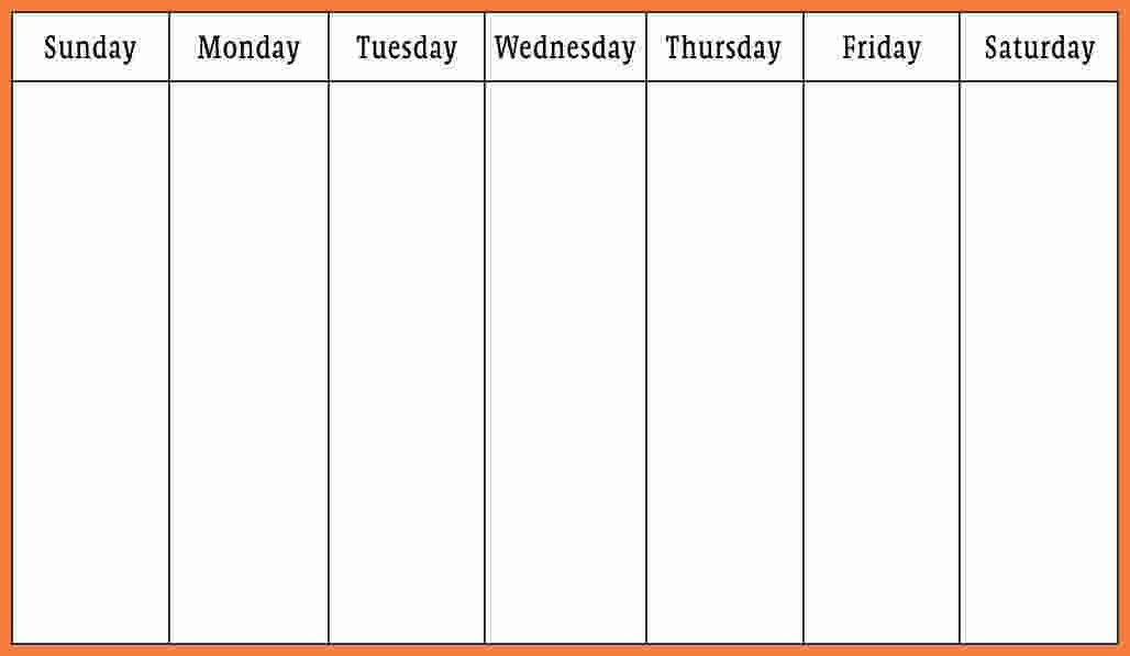 7+ weekly calendar template word | Marital Settlements Information