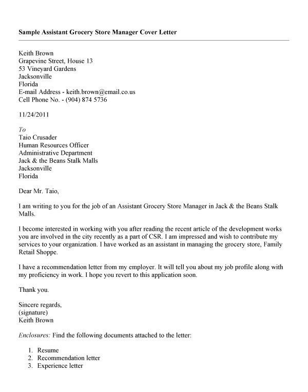 9 Best Images of Assistant General Manager Cover Letter ...