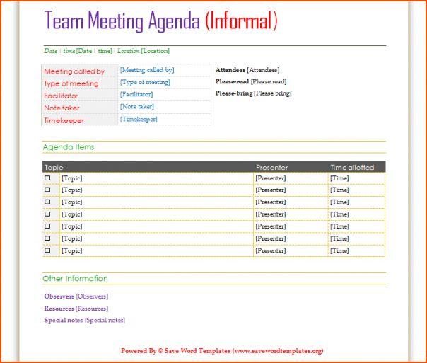 4+ meeting agenda template word - bookletemplate.org
