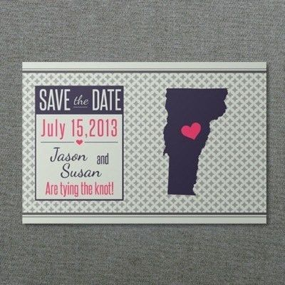 Vermont Printable Save-the-Date Postcard – Download & Print