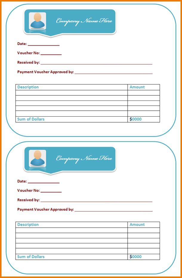 payment voucher template excel