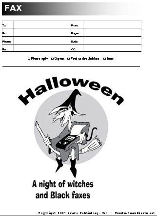 Halloween Fax Cover Sheet at FreeFaxCoverSheets.net